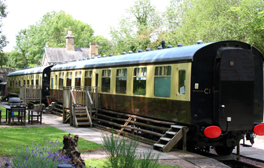 Enjoy a tranquil break in a renovated railway carriage