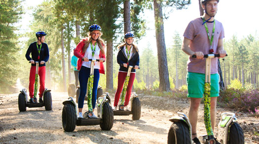 Explore forest trails on a segway