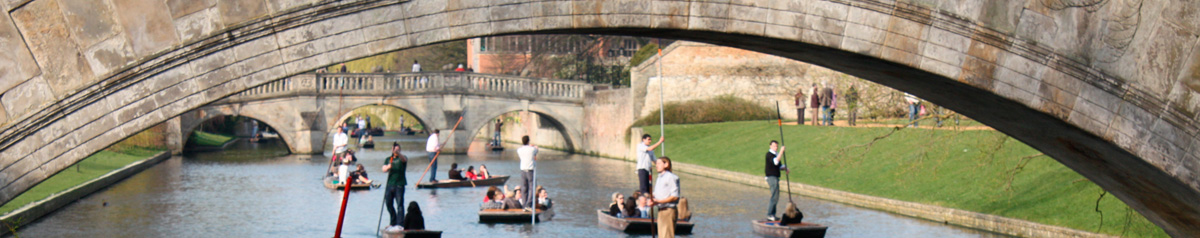 Punting in Cambridge.