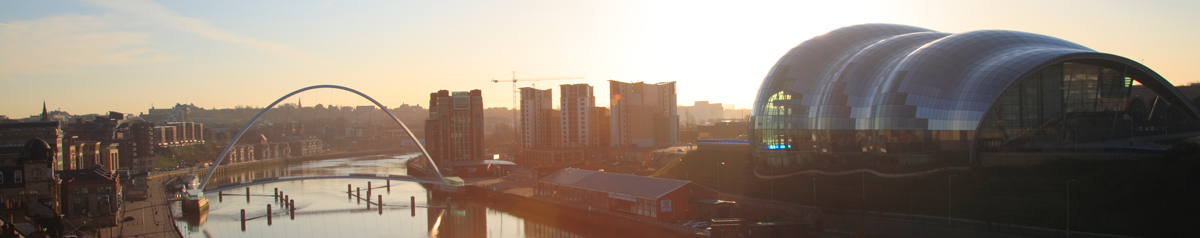 The river Tyne with views of The Sage