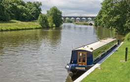 Take a boat along the canals of Cheshire
