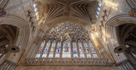 The ceiling of Exeter Cathedral