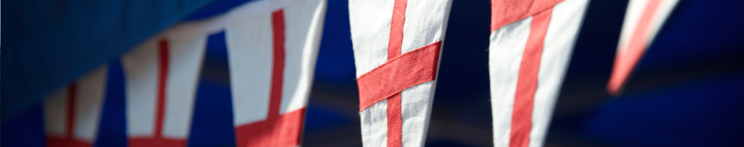 England flags banner