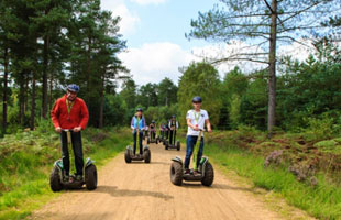 Riding Segways in Dalby Forest