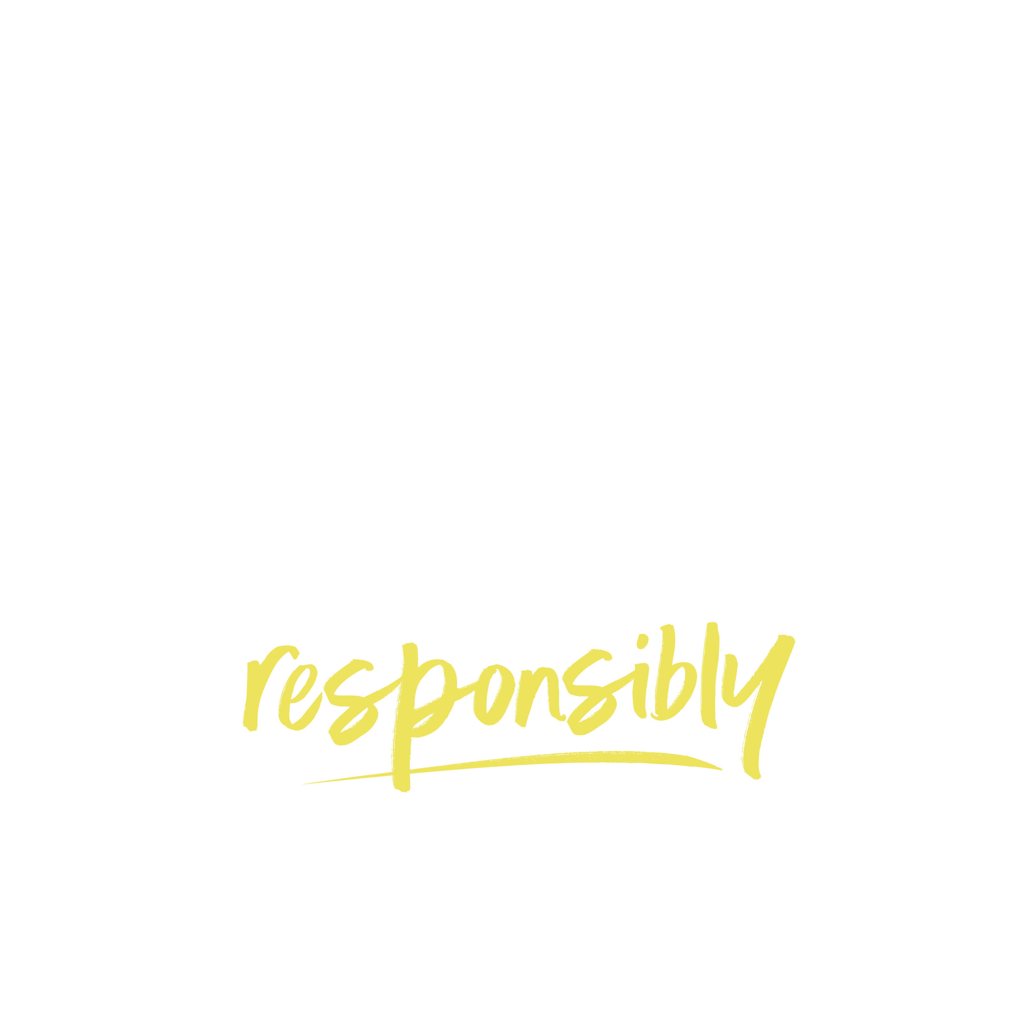 Escape the Everyday Responsibly logo in white