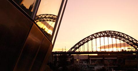 Gateshead at sunset