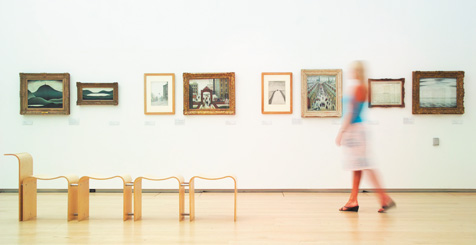 Image of woman at a gallery