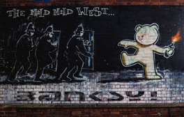 Stumble upon Banksy's murals in Bristol's Stokes Croft