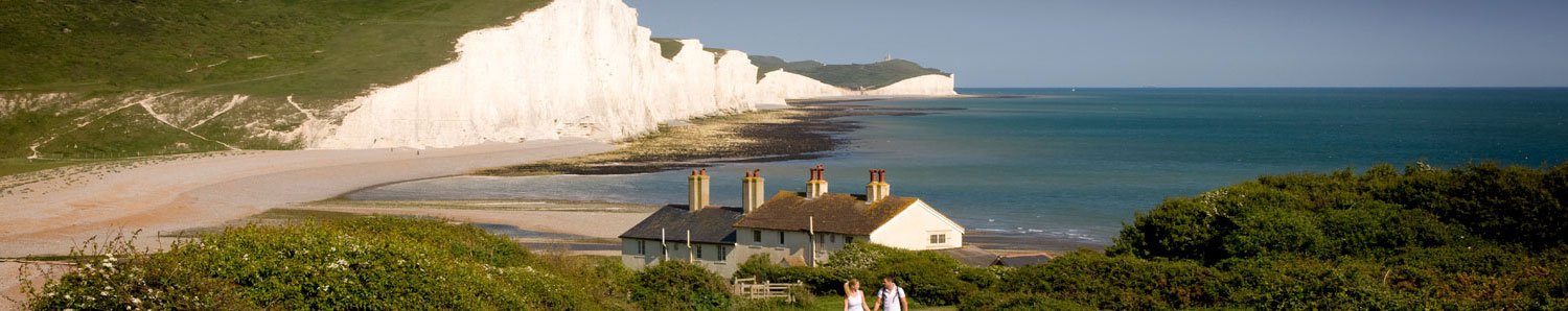 Chalk cliffs in Eastbourne, East Sussex