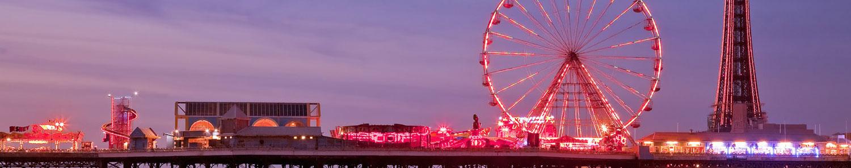 Blackpool at dusk