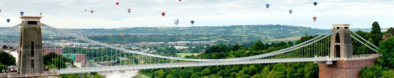 Balloons over Clifton Bridge, Bristol