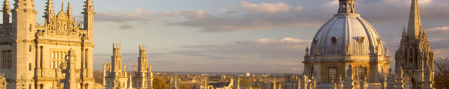 View of Oxford University spires
