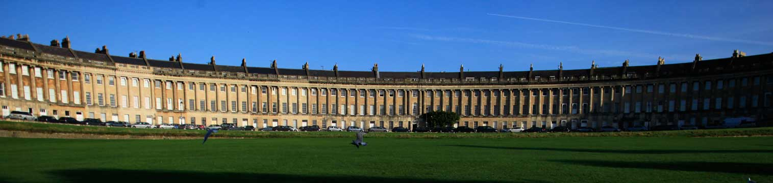 The Royal Crescent, Bath. Copyright VisitEngland images