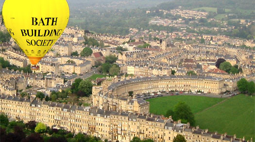 Balloon ride over Bath