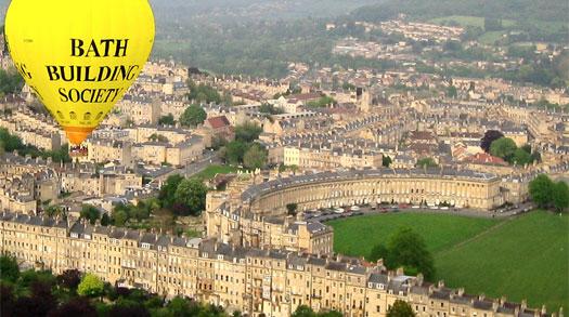 Ballonfahrt über Bath