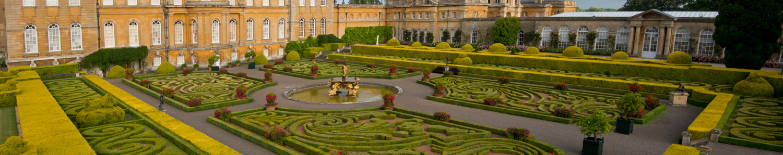 Blenheim Palace - Oxfordshire - Italian Garden (c) VisitEngland 1500x298