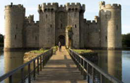 Be a real knight or princess for the day at Bodiam Castle