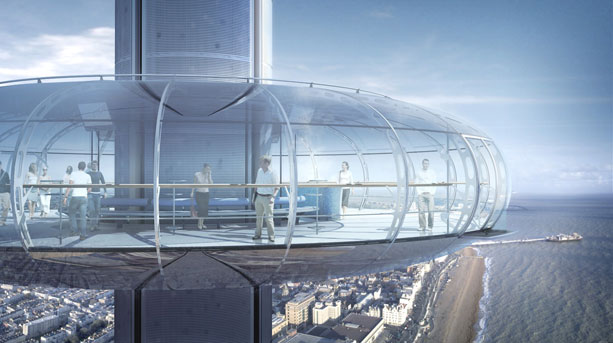 Artist's impression of the top of the British Airways i360