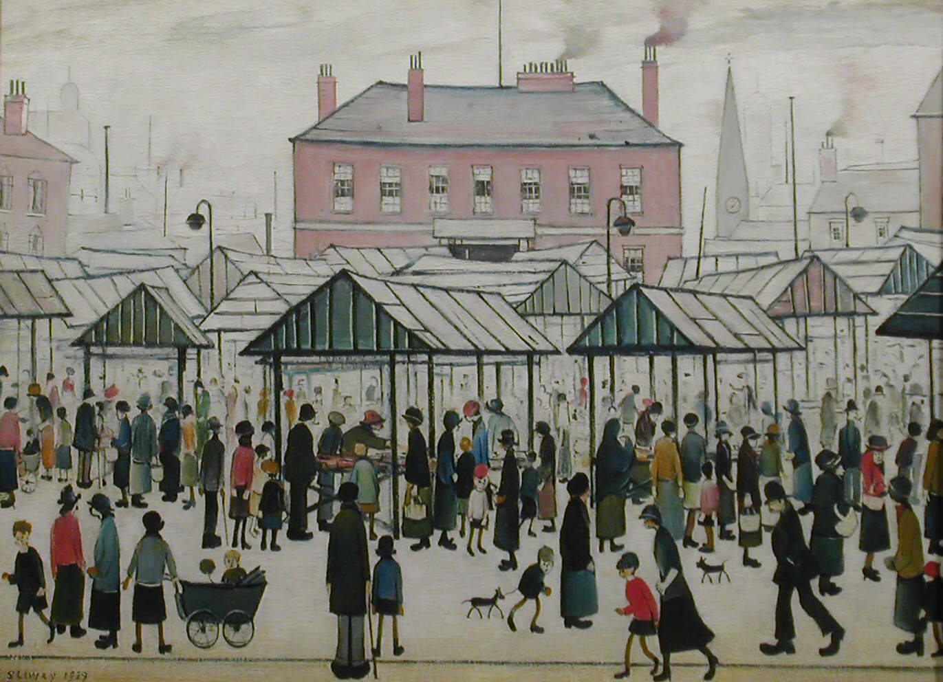 Market Scene in a Northern Town by L.S. Lowry. Copyright: The Lowry, Salford.