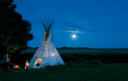 Go glamping near the White Cliffs of Dover