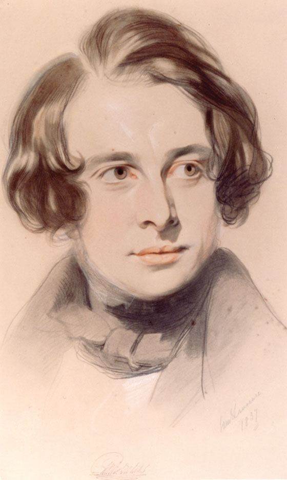 Portrait of Dickens by Samuel Laurence, courtesy of the Charles Dickens Museum