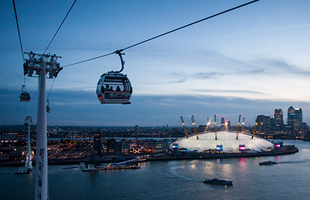 Emirates air line in Greenwich