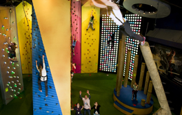Test your strength at Clip 'n Climb on Cumbria's coast