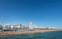 Bare all on a beach break in Brighton