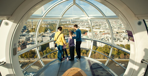 a couple in the London Eye