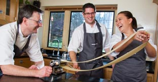 Students at Raymond Blanc's cookery school