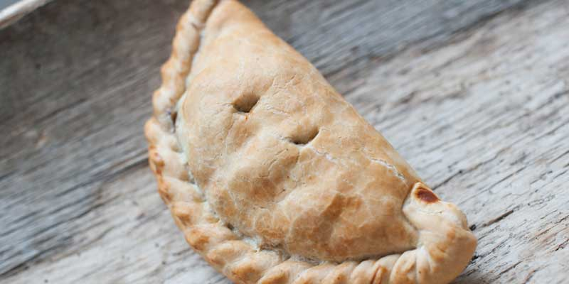 A traditional Cornish pasty