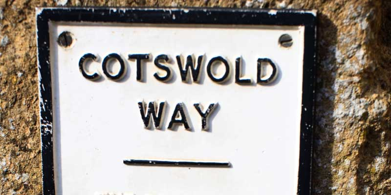 The Cotswold Way sign.