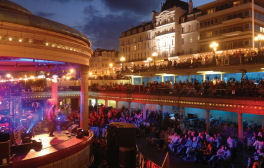 Music and fireworks at Eastbourne's seafront bandstand