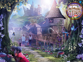 Enchanted village, an Alton Towers hotel in Staffordshire
