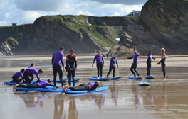 Learn to surf in the surfing capital of the UK