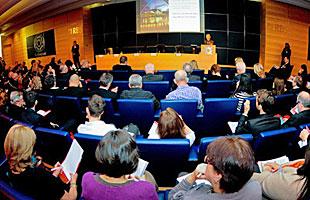 A seminar audience