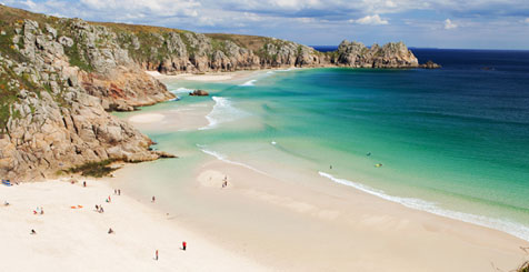 Cornwall Beach in England