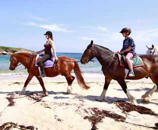 Horse riding in the Scilly Islands