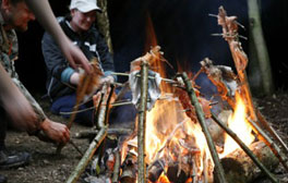 Enjoy a wild night out with bushcraft at Catton Hall