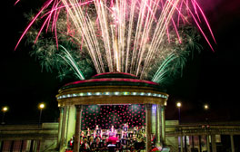 Nightly summer bandstand concerts and weekly fireworks