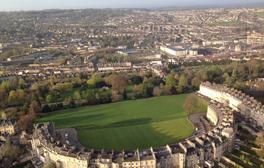 Soar in a hot air balloon across the City of Bath