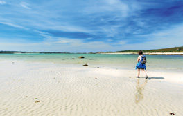 Wander along sparkling Scilly beaches