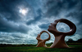 Admire sculptures under blue skies in Dorchester