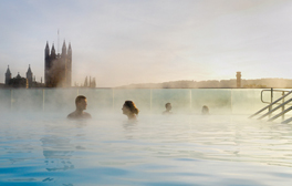 Relax in Thermae Bath Spa's open air rooftop pool