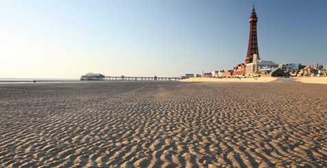 Blackpool Tower and Beach. Credit Visit Blackpool