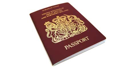 A photo of a UK passport. Copyright SXC