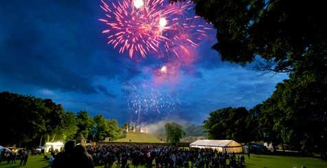 Firework finale in Wakefield.