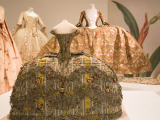 Mantuas on show at the Georgians exhibition at Bath Fashion Museum