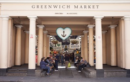 Browse the stalls and shops at the vibrant Greenwich Market