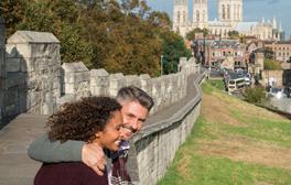 Walk along England's longest medieval city walls in York